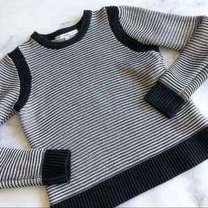 & Other Stories Striped Cotton Pullover Sweater